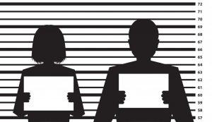 Silhouette of Two Mug Shots Criminal Record